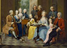 """""""Familie Timmermann"""" by, Johann Heinrich Tischbein the Elder, 1758"""