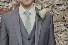 West Sussex Wedding Love the color/texture of this suit. I think I have a thing for grey. Wedding Groom, Wedding Suits, Wedding Attire, Blue Wedding, Dream Wedding, Wedding Engagement, Wedding Couples, Summer Wedding, Wedding Reception