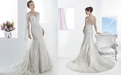 Real-life wedding gown version of Elsa's dress in Frozen-- Ultra Sophisticates Style 1468 by Demetrios