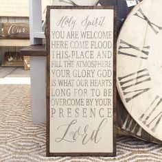 Holy Spirit You are Welcome Here Sign by TheShedInteriors on Etsy