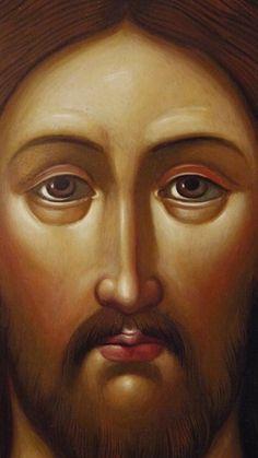 Jesus. Religious Images, Religious Icons, Religious Art, Byzantine Icons, Byzantine Art, Good Shepard, History Icon, Spiritual Paintings, Jesus Face