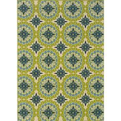 Green/Ivory Outdoor Area Rug (3'10 x 5'6) | Overstock.com Shopping - Great Deals on Style Haven 3x5 - 4x6 Rugs