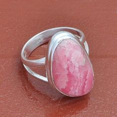 RHODOCHROSITE 925 SOLID STERLING SILVER  RING 6.19g DJR3938 #Handmade #Ring