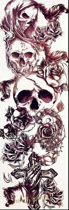 Trendy decor art tips Ideas Sketch Tattoo Design, Design Art Drawing, Tattoo Sketches, Tattoo Drawings, Art Drawings, Tattoo Designs, Skull Rose Tattoos, Body Art Tattoos, Sleeve Tattoos