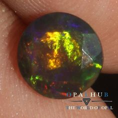 7x7 MM Natural Ethiopian Welo Fire Black Opal Faceted Cut Gemstone Play  791H