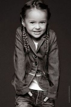 Love her sweet little braids & blazer x