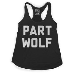 Part Wolf Tank Women's Black Fun for NC State games!