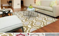 """Area Rugs 7 X 9 Meticulously Woven Cairo Transitional Geometric Area Rug (6'7"""" X 9"""
