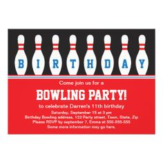 53 best bowling invitation ideas images on pinterest invitation