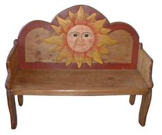 Hand painted sun bench