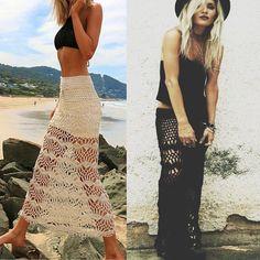 332db18fed US $17.98 |Aliexpress.com : Buy 2019 New Knitted Hollow Out Lace Beach  Dress Women Summer Sexy Crochet High Waist Bodycon Long Beach Skirt Swimwear  from ...