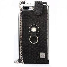 Funda iPhone 8 Plus elegante piel de tilapia. Finger 360 #funda #tilapia #anticaidas #anillo #Finger360 #negro #piel #8plus #iphone8plus