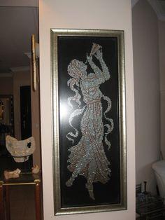 1,50 m. boyundaki tel kırma tablo Ombre Hair, Embroidery Stitches, Door Handles, Frame, Rhinoplasty, Home Decor, Medical, Facebook, Google