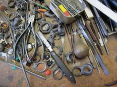 Karl Fritsch's bench.....  and a lovely story about his favourite tools...