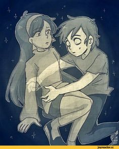 """""""M-Mabel? H-how are you here? You-you"""" dipper stuttered. Mabel nodded. """"Dipper this is your dreamscape don't panic, you're not dead."""" She floated around him. """"B-but how did you get here?"""" He asked. Mabel sighed. """"Bill took me to the mindscape, I can visit your dreams but I can't leave..."""" She whispered but not quiet enough. Dipper looked at the stars surrounding them both, each star containing a memory. There was a certain constellation, the Big Dipper holding seven memories that kept Dipper…"""