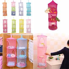 Merveilleux Shelf Hanging Bag Storage Mesh Net Organizer Laundry Toy Towel Socks Closet  Kids