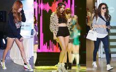 Giày thể thao nữ cao cổ Hàn Quốc là xu hướng thời trang trẻ của Hàn Quốc năm 2017