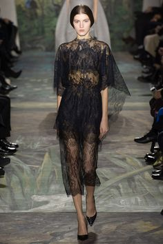 Valentino Spring 2014 Couture Collection. Delicate Navy Lace