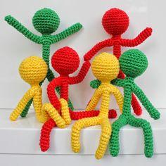 Mensen haken | draadenpapier | Gratis patroon #crochet #people #man