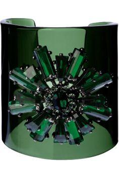 ~ It's a Colorful Life ~ Emerald Green Cuff