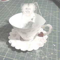 My Paper tea cup wedding favor prototype