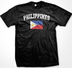 Philippines Faded Distressed Flag Filipino Country Pride Mens T-Shirt Philippines Country, Philippines Fashion, Football Soccer, Filipino, Flag, Bro, Islands, Pride, Mens Tops