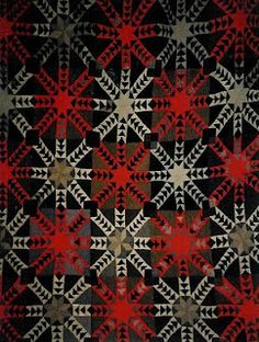 Fantastic old Welsh Quilt from little welsh quilts blog..It was made in Mid Wales in the Llanidoes area of Welsh wool