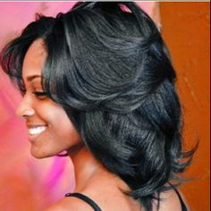 Beautiful I like the layers. To learn how to grow your hair longer click here - http://blackhair.cc/1jSY2ux