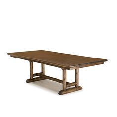 Table #3508 shown in Kahlua Premium Finish (on Peeled Bark) with Medium Pine Top by La Lune Collection