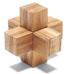 Wooden Burr Puzzles Notch a few sticks and drive your friends crazy. By Jock Holmen Something's got to give when pieces of wood intersect at 90° angles. That's the reality behind the curious assemblies shown here. Known as burr puzzles, because they resemble seed burrs, these brain-teasers consist of three or more notched pieces that go together at right angles. Give one of these tricksters to an unsuspecting friend …
