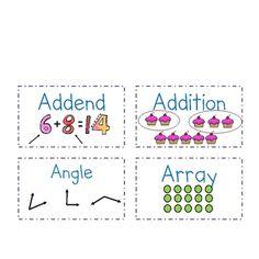 I need a math wall: Visual Math Vocabulary Flashcards for Common Core Grade. Lego Math, School Classroom, Common Core Math, Common Core Standards, Math For Kids, Fun Math, Math Resources, Math Activities, Math Word Walls