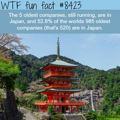Half of the oldest companies in the world are in Japan - WTF fun facts