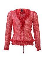 Puantiyeli Kırmızı Bluz