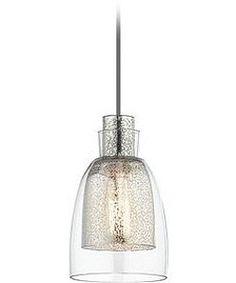 Kichler Evie 1-Light Brushed Nickel Mini Pendant 43625NI