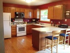 Kitchen Cabinet Layout With Red Walls Kitchen Remodel