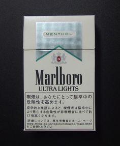 Embalagem de Marlboro Menthol Ultra Lights
