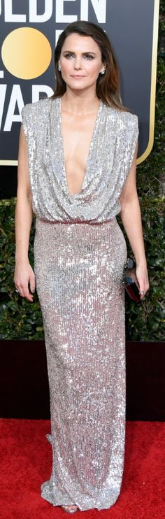 OutfitID – The user generated fashion dictionary of what celebrities wore and where to get it. Keri Russell Style, Different Color Dress, Fendi Coat, Fashion Dictionary, Vera Wang Dress, Silver Sequin, Dress Brands, Designer Dresses, Celebs