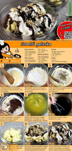 Somloer Nockerl Somloer dumplings are a well-known Hungarian dessert recipe. The Somloer Nockerl Recipe Video is easy to find using the QR code :] No Salt Recipes, My Recipes, Sweet Recipes, Baking Recipes, Cookie Recipes, Dessert Recipes, Hungarian Desserts, Hungarian Recipes, Smoothie Fruit
