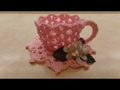 CROCHET How To #Crochet Decorative TeaCup and Saucer #TUTORIAL #331, My Crafts and DIY Projects