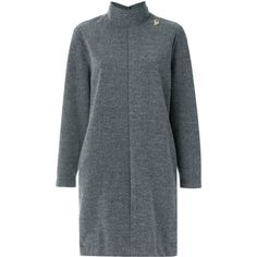 Lilly Sarti turtle neck dress (1.115 BRL) ❤ liked on Polyvore featuring dresses, grey, long sleeve turtleneck, long-sleeve turtleneck dresses, turtleneck dress, grey turtleneck dress and long sleeve turtle neck dress
