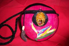 "Sharon's ""Bird of Paradise"" gourd purse."