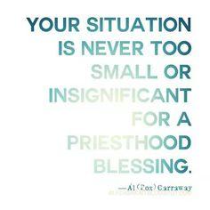 Priesthood Blessing