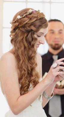 wedding hair style by side - Buscar con Google