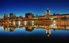 view of Old Montreal and the skyline -from the quays - Montreal, Quebec