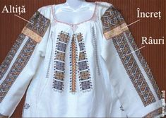 fig_4_6 Simple Cross Stitch, Diy And Crafts, Projects To Try, Embroidery, Folklore, Dyi, Costume, Tops, Fashion