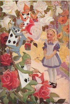 "Alice in Wonderland:  #Alice ~ ""Would You Tell Me Please,"" by Edwin John Prittie."