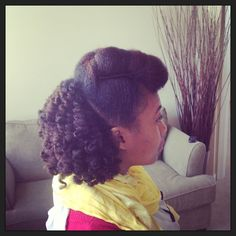 Pompadour/ twist out