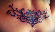 Loto Flower, fiore di loto, butt tattoo, fondoschiena, schiena, tribale, tribal, Taty Tattoo