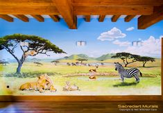 Left hand wall of Safari Mural