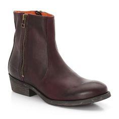 Boots en cuir lisse, zippées, Asphalto, Kickers